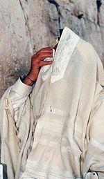 White on White Prayer Shawl