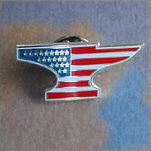 Anvil Flag Lapel Pin
