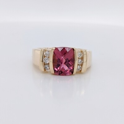 14kt Yellow Gold Pink Kunzite Ring