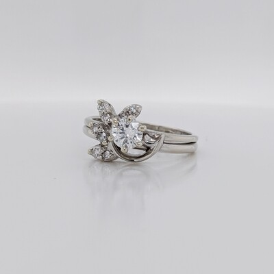 14kt White Gold Wedding Set