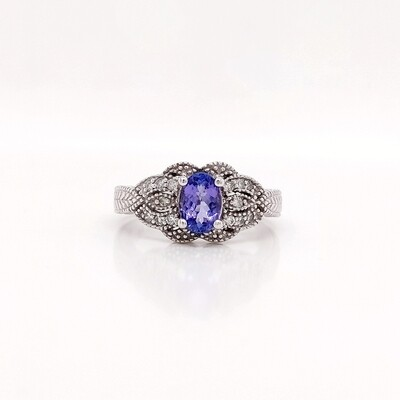 14kt White Gold Tanzanite Ring