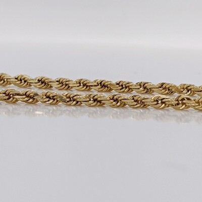 10kt Yellow Gold Rope Bracelet