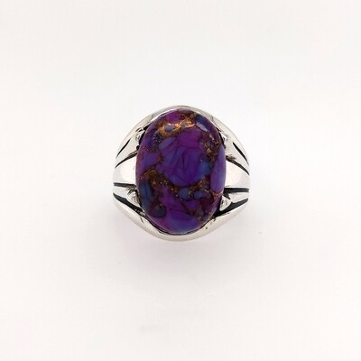 Sterling Silver Purple Turquoise Ring