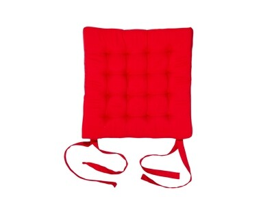 Подушка на стул стеганная красная