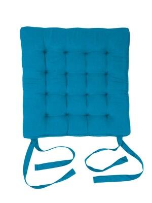 Подушка на стул стеганная бирюза