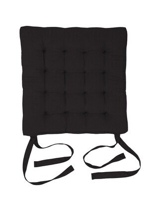 Подушка на стул стеганная шоколад