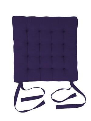 Подушка на стул стеганная сирень
