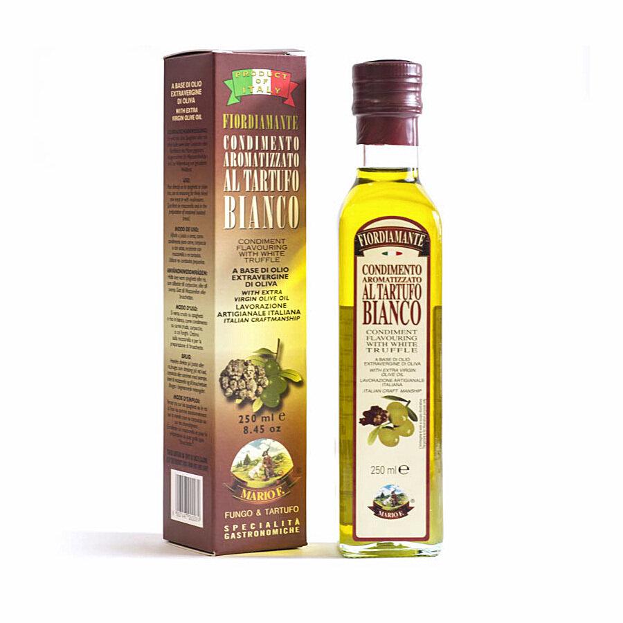 Valkotryffeleliöljy Ekstraneitsytoliiviöljyssä   White Truffle  Flavoured Evoo   MARIO F.   250 ML