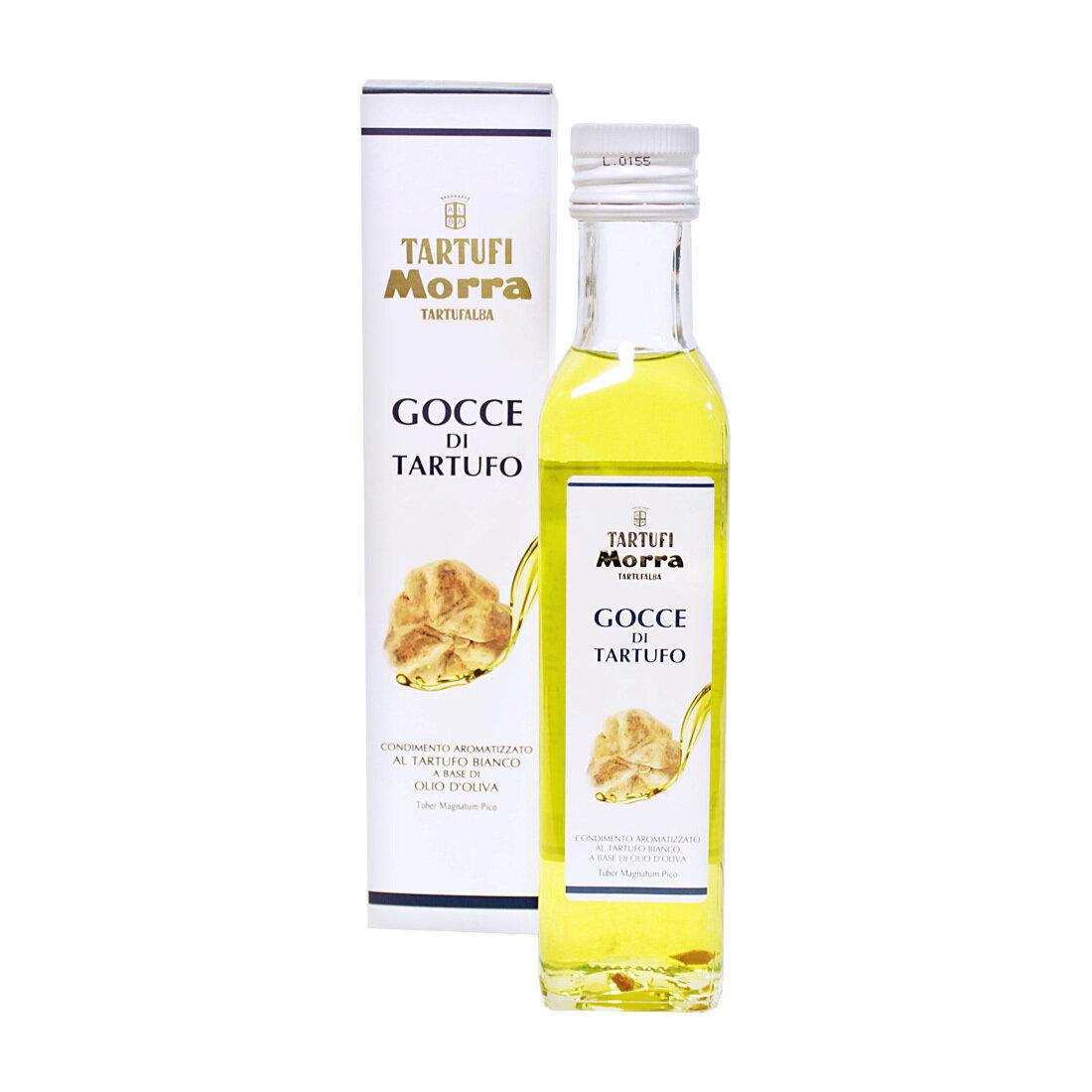 Valkotryffeliöljy (Tuber Magnatum Pico)   White Truffle Flavoured Olive Oil   TARTUFI MORRA   250 ML