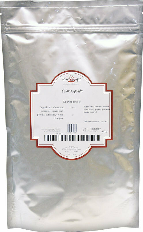 Colombo Curry (Antilles) | Colombo Curry | TERRE EXOTIQUE | 500 G