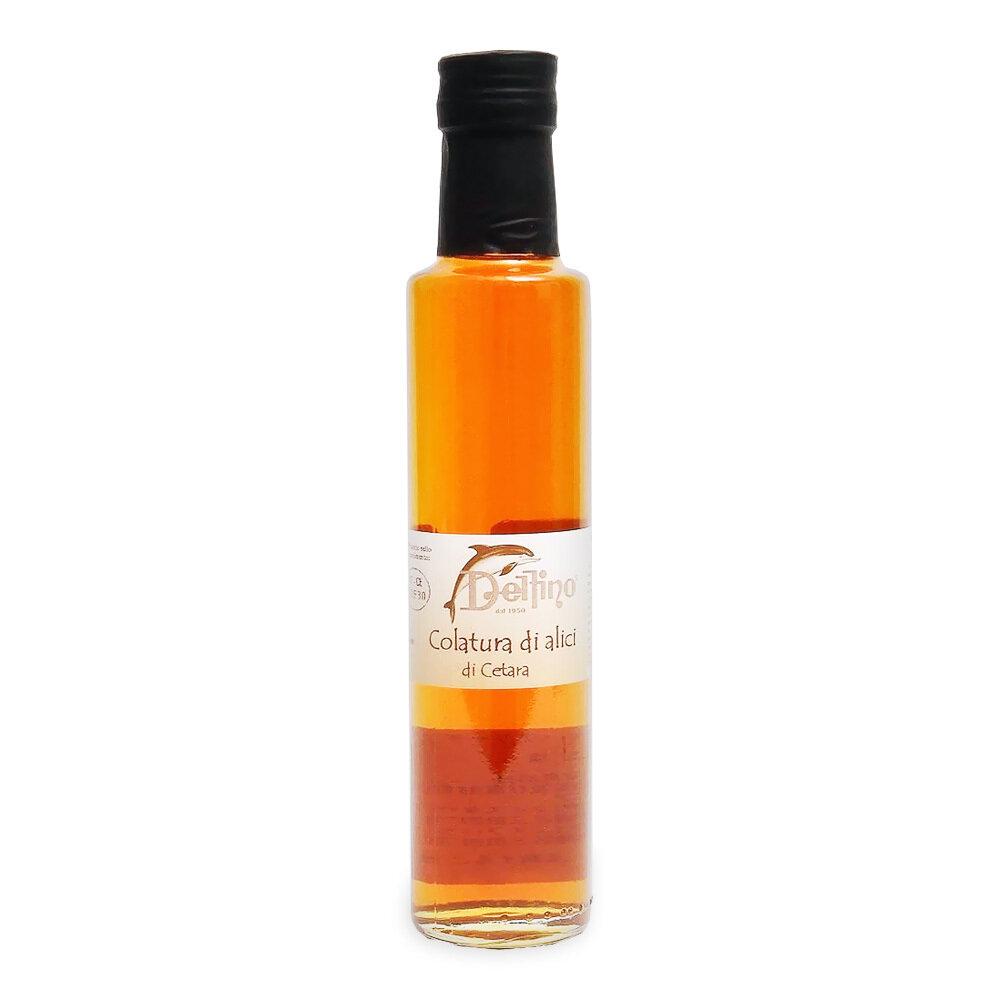 """""""Colatura di Alici"""" Anjovis-Kastike   Fermented Anchovy Sauce   DELFINO   250 ML"""