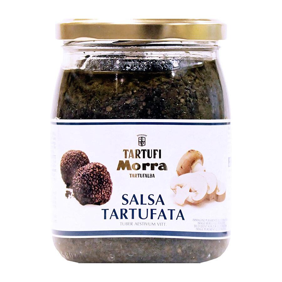 Sienet & Kesätryffelikastike Mustasta Tryffelistä (8%)   Tartufata Mushrooms & Truffles Sauce   TARTUFI MORRA   500 G