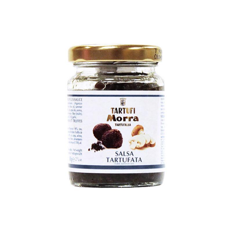 Sienet & Kesätryffelikastike Mustasta Tryffelistä (8%) | Tartufata Mushrooms & Truffles Sauce | TARTUFI MORRA | 80 G
