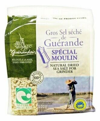 Kuivattu Karkea Suola Suolamyllyyn | Dried Coarse Salt For Mill | SEL DE GUERANDE | 500 G