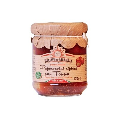 Tonnikalatäytteiset Makeat Paprikat | Tuna-Stuffed Pepper | DELIZIE DI CALABRIA | 170g