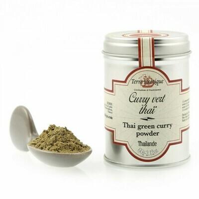 Thai Vihreä Curryjauhe (Thaimaa)   Thai Green Curry Powder   TERRE EXOTIQUE   60g