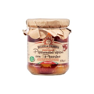 Pecorino-Juustotäytteiset Makeat Paprikat | Pecorino Cheese Stuffed Peppers | DELIZIE DI CALABRIA | 170g