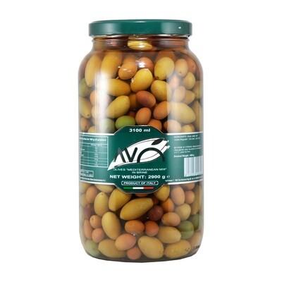 Kivelliset Oliivit Sekoitus Suolavedessä | Olive