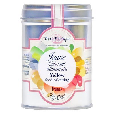 Keltainen väriaine | Yellow food colouring | TERRE EXOTIQUE | 50 g