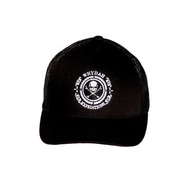 Expedition Whydah Cap Black with Embroidered White Logo