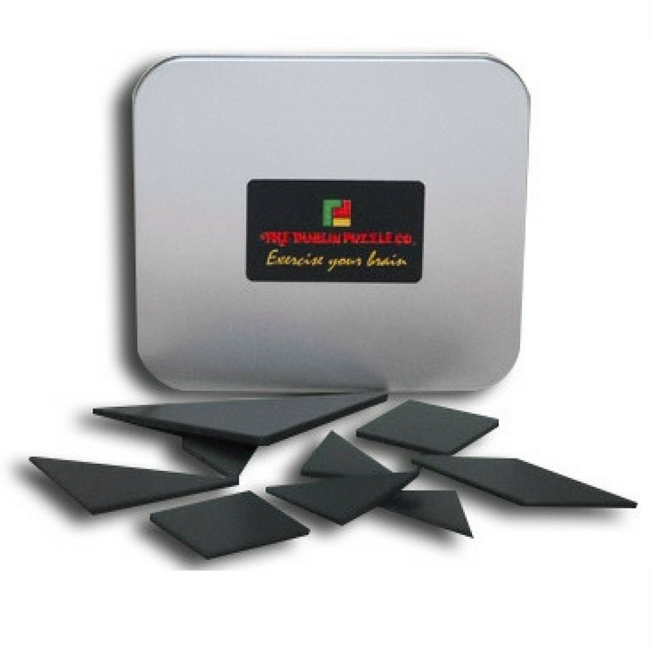 Black Tangram Type Puzzle - Small