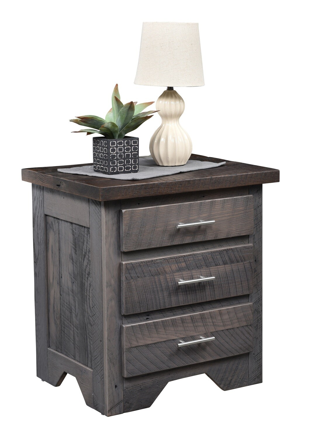 Urban Barnwood London Fog 3 Drawer Night Stand