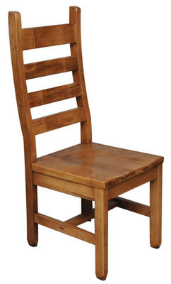 Rustic Ladder Back Side Chair Splined Seat by Ruff Sawn