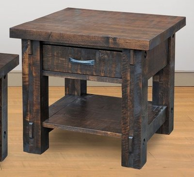 Timber End Table by Ruff Sawn