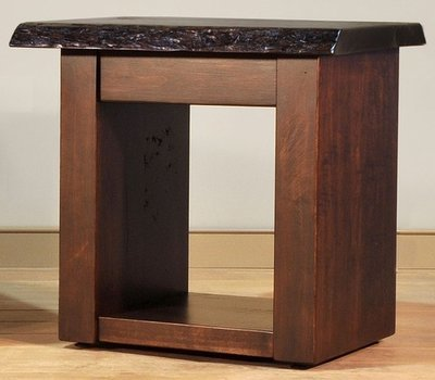 Live Edge End Table by Ruff Sawn