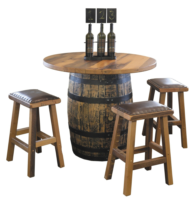 Urban Barnwood Barrel Pub Table