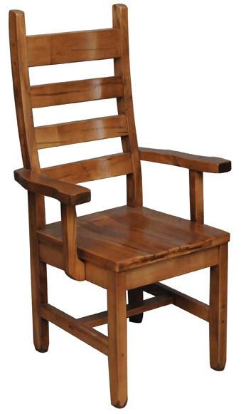 Rustic Ladder Back Arm Chair by Ruff Sawn