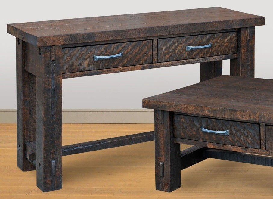 Timber Sofa Table by Ruff Sawn