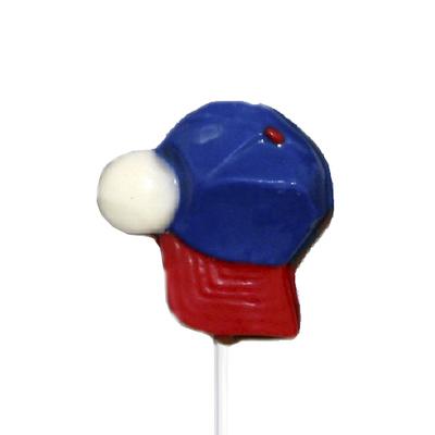 Chocolate Lollipops - Pollylops® - Baseball Cap and Ball