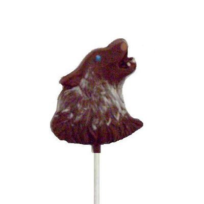 Chocolate Lollipops - Pollylops® - Wolf Head