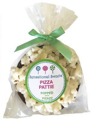 Gourmet Chocolate Pizza Pattie w/white drizzle no decorations (Shown w/LP Label)