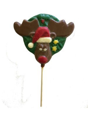 Chocolate Lollipops-Pollylops®-Wreath with Moose