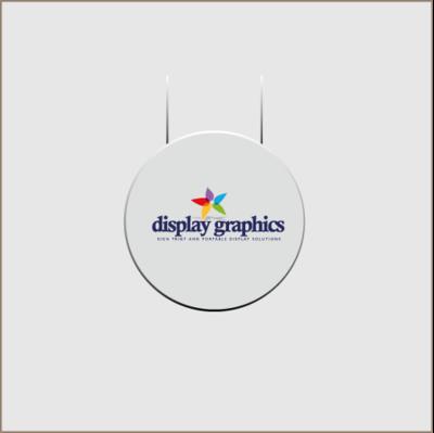 Round Vertical Disc Hanging Banner
