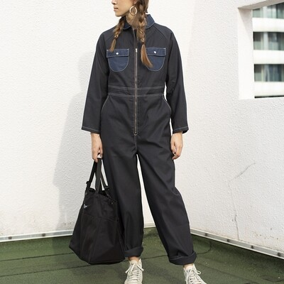 W'MENSWEAR LIMITED LAUNCH COVERALL IN BLACK