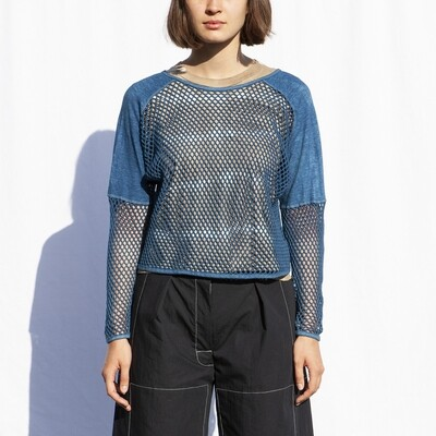 W'MENSWEAR SUB-AQUATIC SWEAT IN INDIGO
