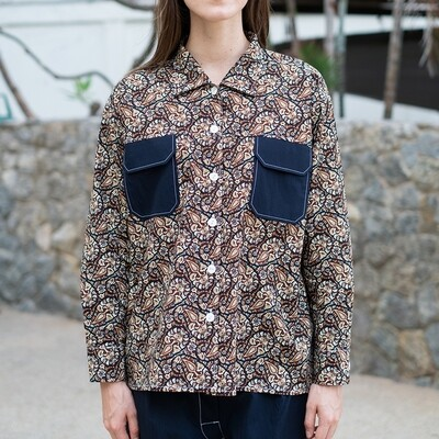 W'MENSWEAR LIMITED EDITION MOSQUITO SHIRT IN PAISLEY