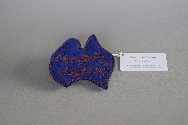 Ponytail in Sydney Merino Wool Chain-Stitched Patch