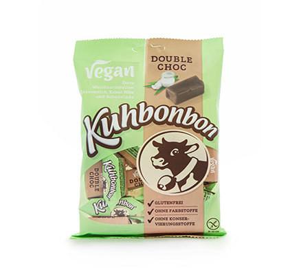 KUHBONBON VEGAN DOUBLE CHOC Caramels with Organic Cacao Nibs, 165g