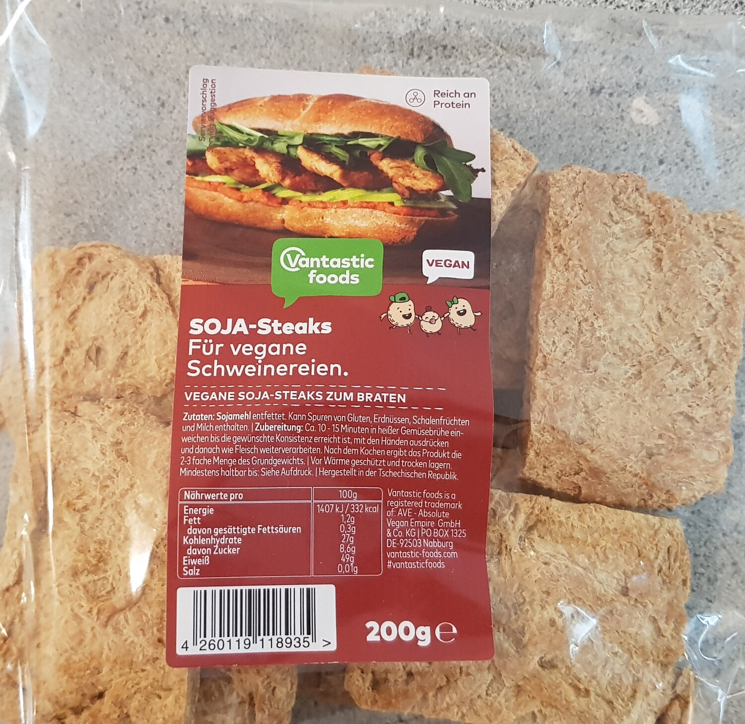 Soya Steaks !! 200g High Protein (makes up to 600g)
