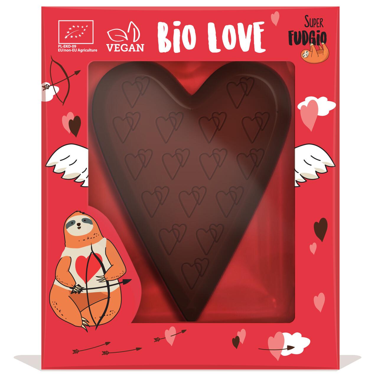 Organic Vegan Chocolate Heart in display box! 80g!