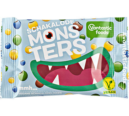Chocolate Monsters - Multi-Coloured Crunchy Vegan Buttons 45g