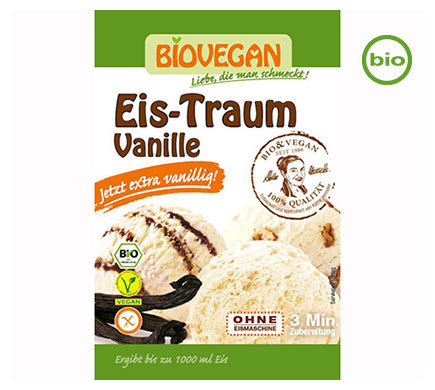 Vegan Ice Cream Powder, Organic, Vanilla, use your own plant milk and cream