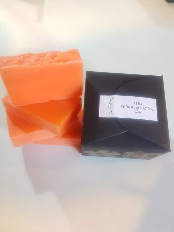 Wild Frangipani Anti-viral Soap 4pk Box
