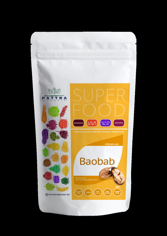 "Порошок из плодов Баобаба ""Pattra Organic"" 250 гр"