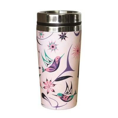 Bamboo Travel Mug - Hummingbird