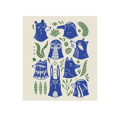 Eco Cloth - Spirit Animals